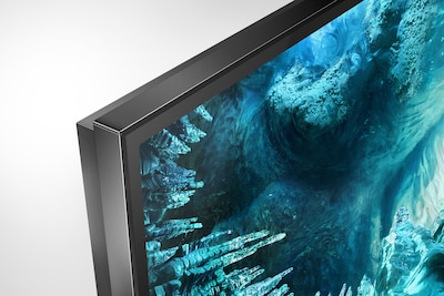 Side shot of TV showing narrow bezel