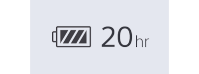 WI=C400 20-h battery icon