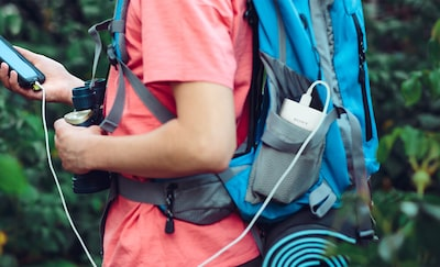 Sony portable chargers for travel and outdoors.