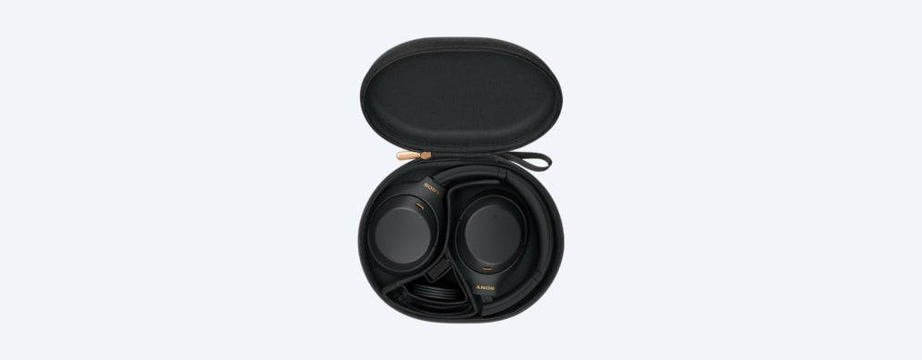 WH-1000XM4 headphones black in carrying case