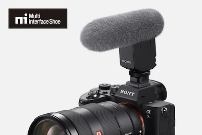 External mic attached to the α7R IV