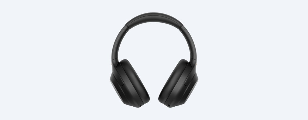 WH-1000XM4 headphones front view black
