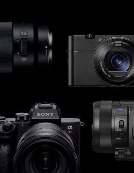 link to Imaging by Sony YouTube channel (image shows Sony cameras)