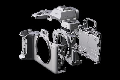 Exploded view of camera