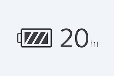 20-hr battery life icon