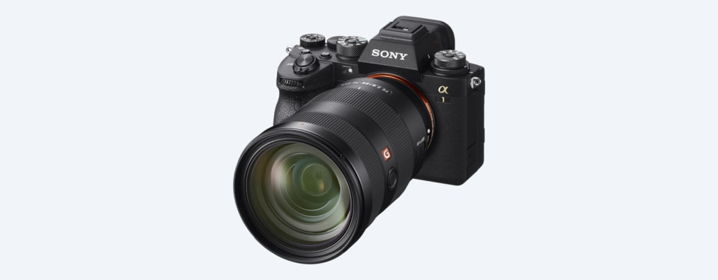 Camera front view with lens attached