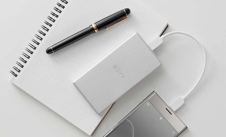 Sony portable chargers for business people.