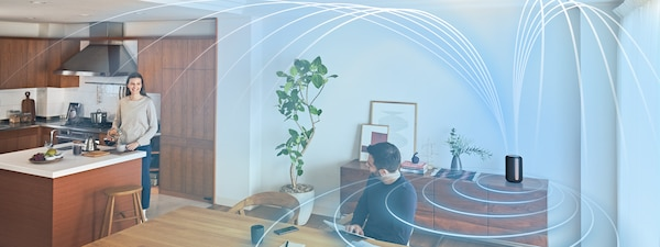 Image illustrating ambient room-filling sound in a living space