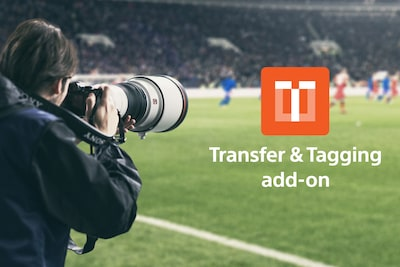 Outdoor shooting with the α1 and Transfer & Tagging add-on logo