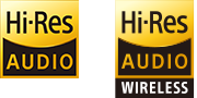 High-resolution audio and high-resolution audio wireless logos