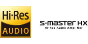 Hi-Resolution Audio and S-Master Hx™ logos