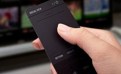 Remote control for 4K Televisions