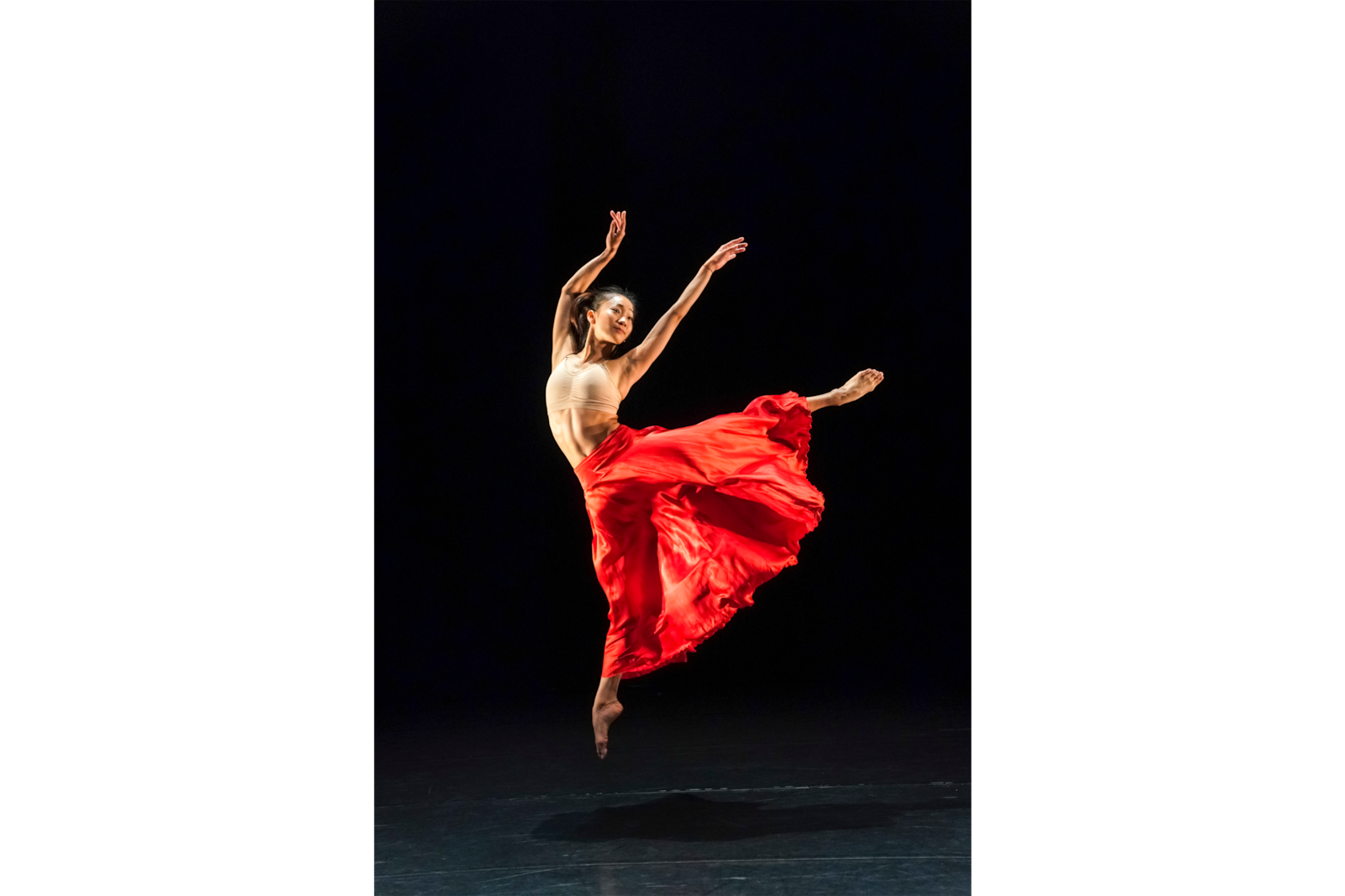 female contemporary dancer jumping alpha 9