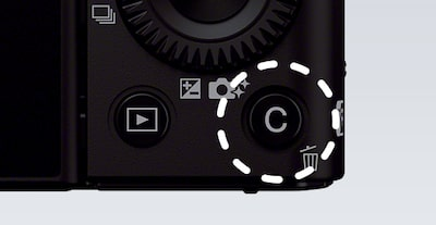 Close-up of the Sony DCS-RX100 III Cyber-shot™ digital camera buttons