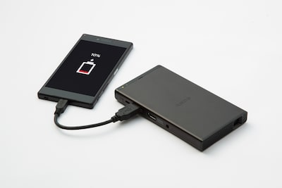 Powerful 5000 mAh battery/charger
